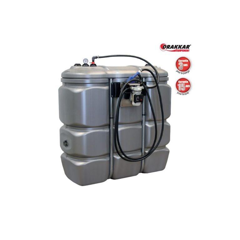 Cuve de stockage PEHD dp 1500L pour adblue avec pompe et pistolet automatique