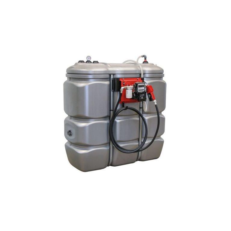 Cuve de stockage gasoil PEHD dp 1500L avec pompe